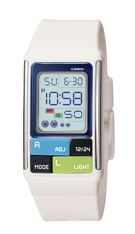 Casio Women's LDF50-7CF Pop Tone White Digital Watch ...